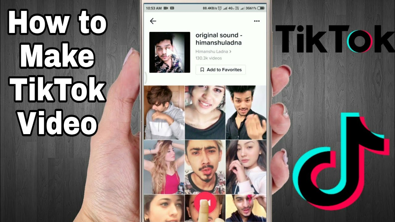 How To Make Tik Tok Videos Tutorial For Beginner Youtube