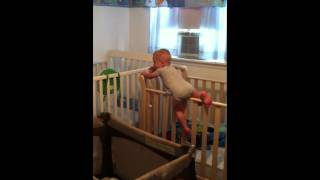 17 Month Old Twin Climbs Out Of Crib