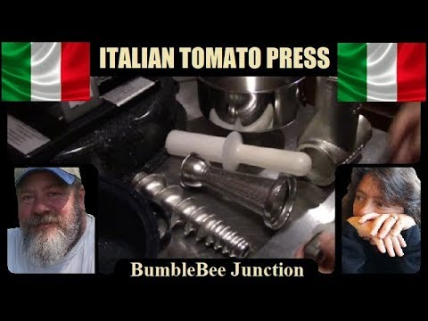 Authentic Italian Tomato Press | Tre Spades Sauce Maker | Heavy Duty Homesteading