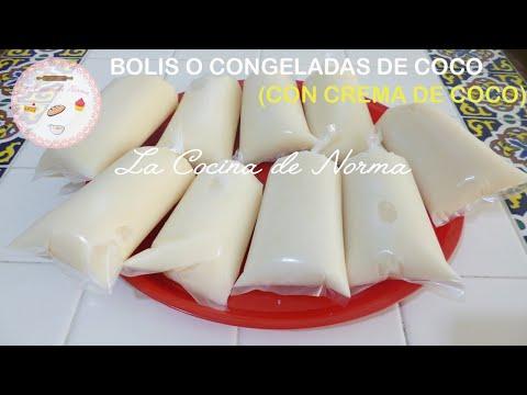 Bolis o congeladas de coco (con crema de coco)