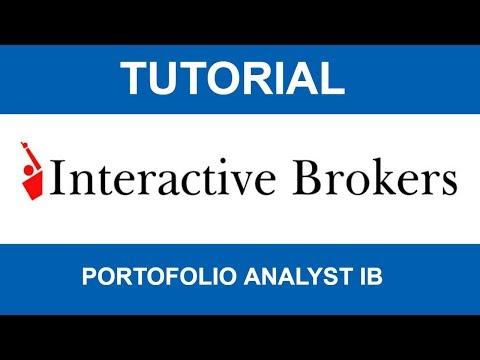 Tutorial Interactive Brokers: Portfolio analyst IB