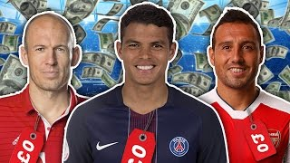 Players Out of Contract XI   Robben, Cazorla & Thiago Silva!