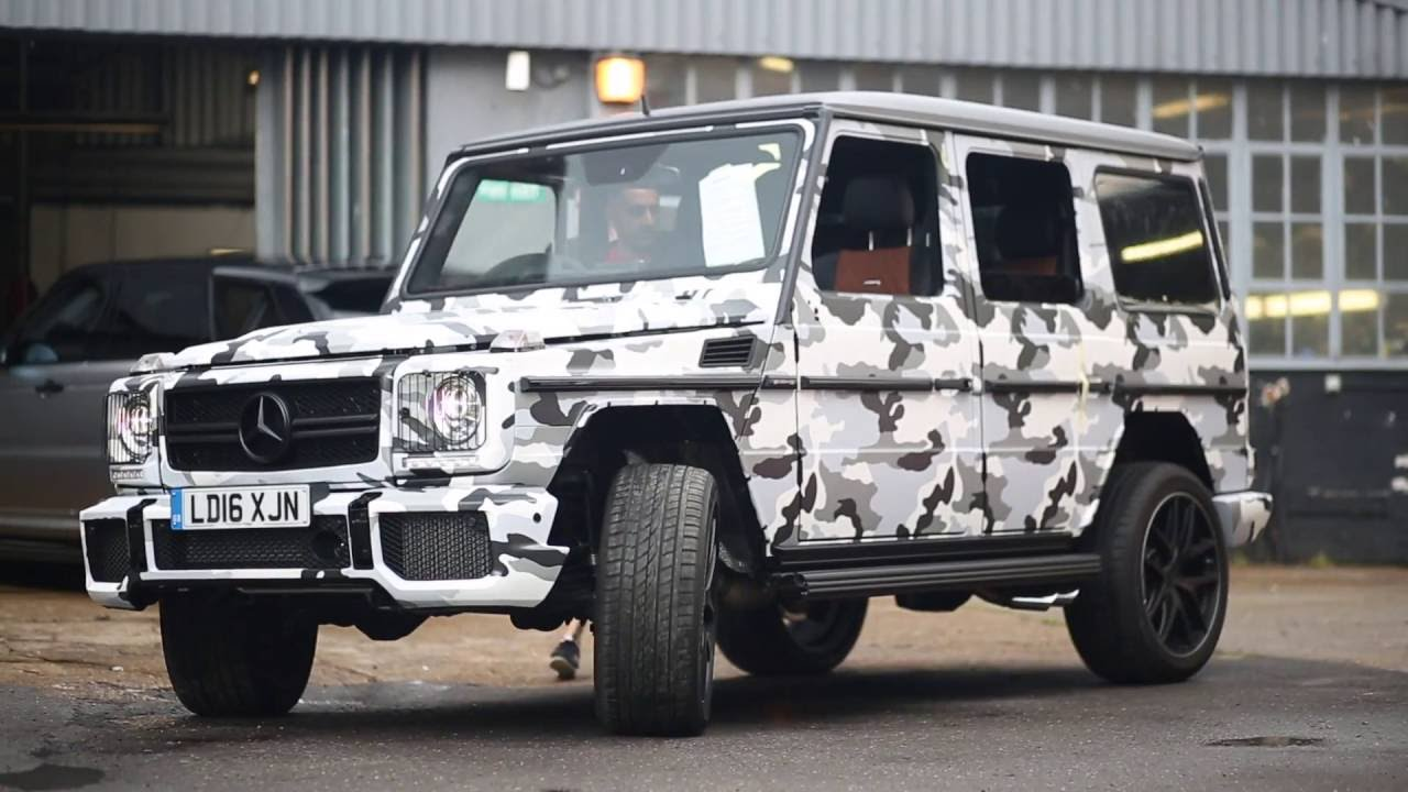 Gucci Benz >> Mercedes G63 wrapped Arctic Camo! - YouTube
