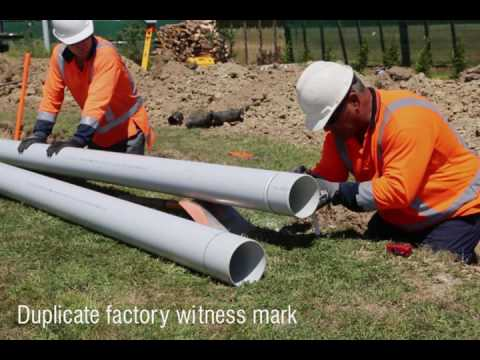 Installation of water main pipelines Iplex Movie #3