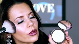 FULL FACE USING ONLY HIGHLIGHTERS Challenge | Tati (GlamLifeGuru)