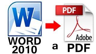 Como Convertir de Word 2010 a PDF sin Programas