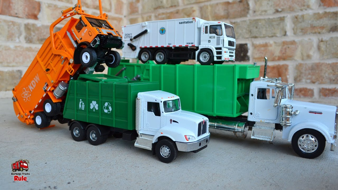 garbage truck videos for children l garbage truck trash pick up celebration l garbage trucks. Black Bedroom Furniture Sets. Home Design Ideas