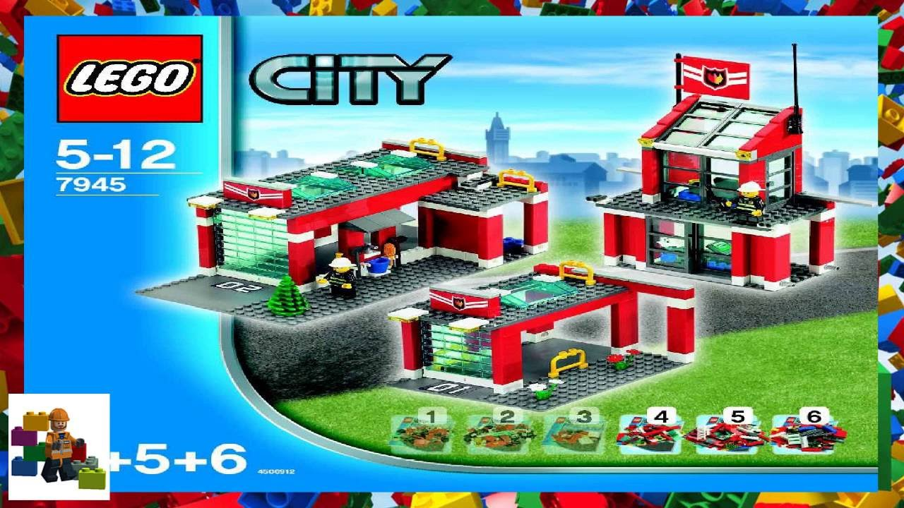Lego Instructions City Fire 7945 Fire Station Book 4 5