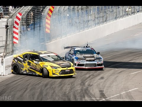 FORMULA DRIFT 2015 - [ Round 1 / Qualifying 2/2 / Long Beach, CA / STREETS / #FDLB ]