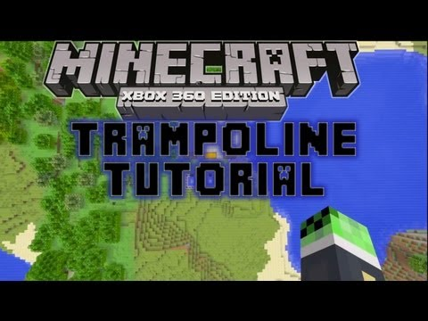 minecraft-xbox-360:-how-to-make-a-trampoline-!