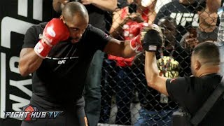 CAN THESE HANDS KO JON JONES? DANIEL CORMIER ON THE MITTS - UFC 214 MEDIA WORKOUT thumbnail