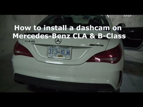 How to install dashcam on Mercedes CLA and B-Class - BlackboxMyCar