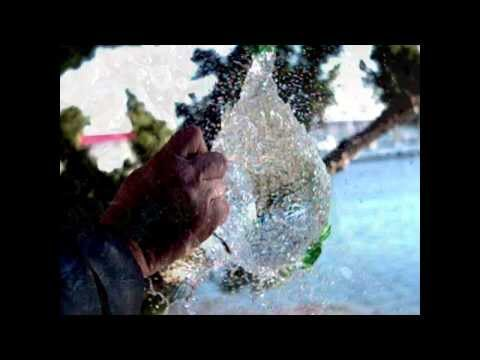 Water balloon & gold Fish in slow motion!