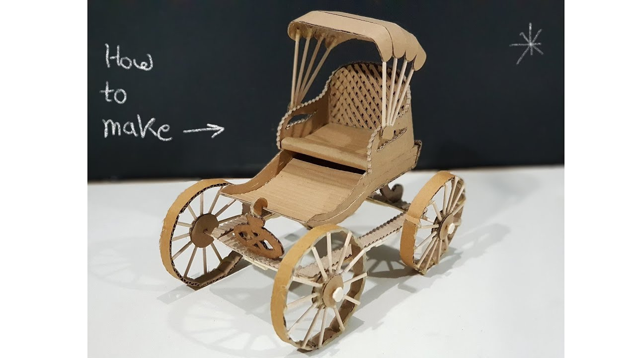 How to make carriage rickshaw from cardboard diy for How to build a carriage