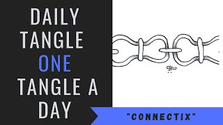 Daily Tangle - Paтtern - Connectix |How to draw...|