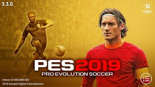 PES 2019 Mobile v3.3.0 New Kits,Graphics Patch Android