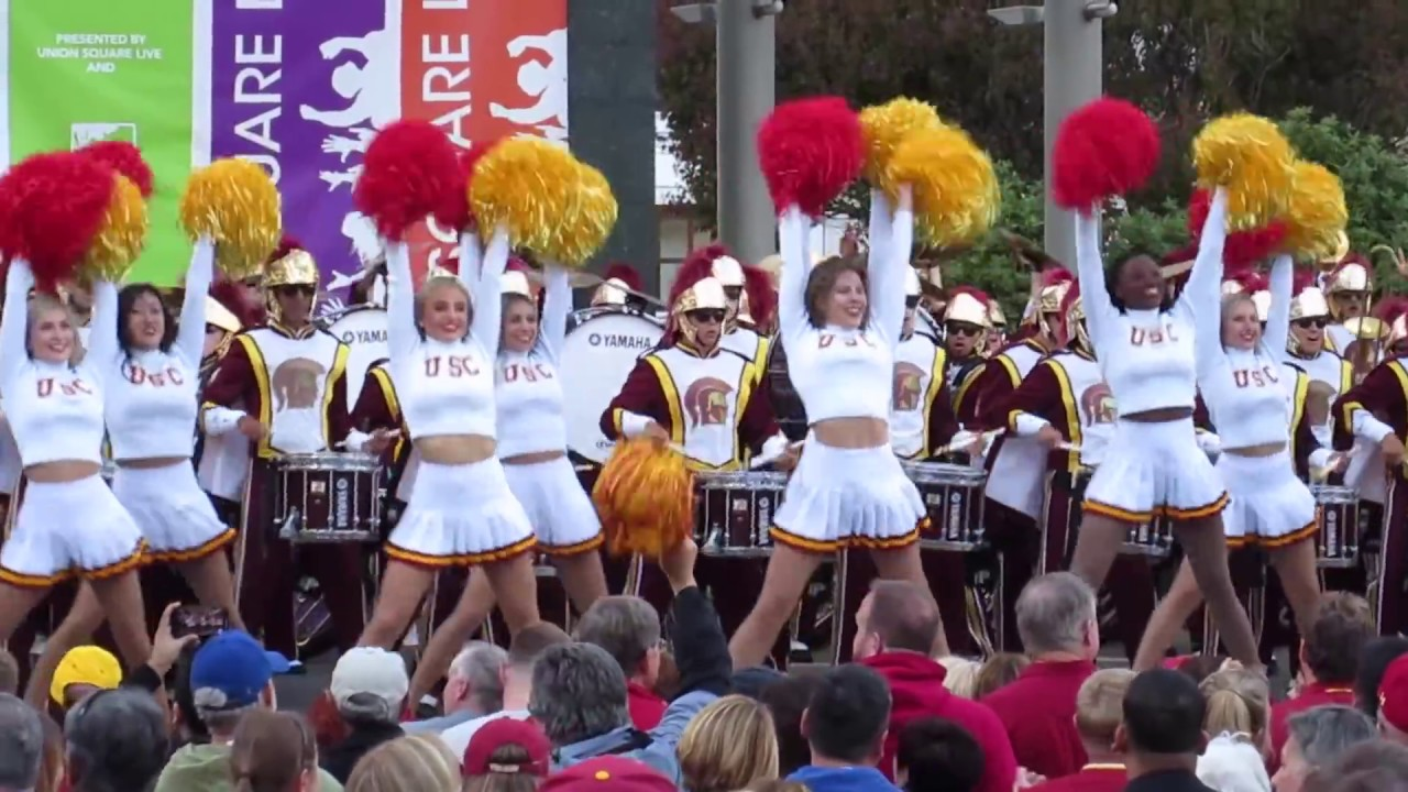 USC Band Pep Rally Union Square San Francisco California 2018