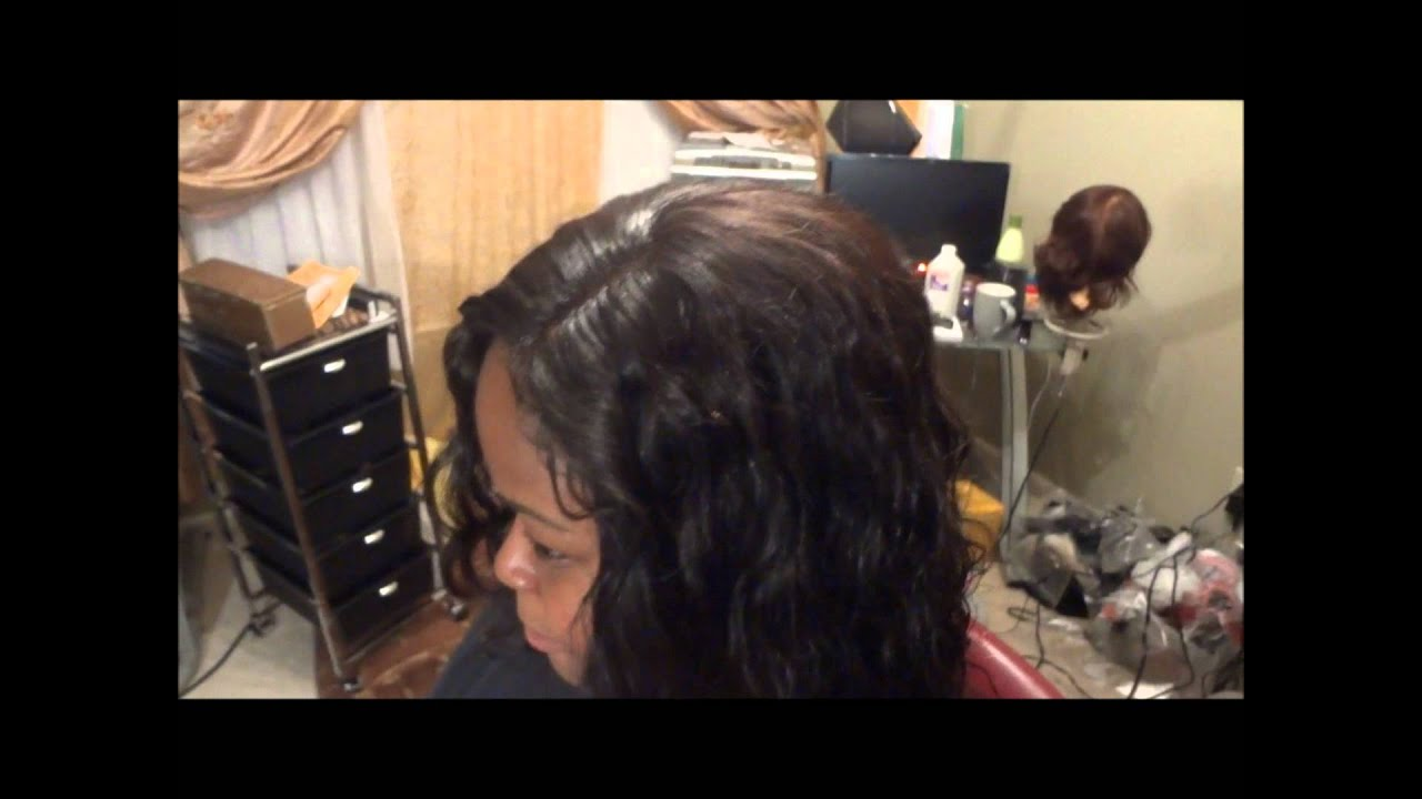 Invisible Hair Line Sew In Weave No Glue No Leave Out For High