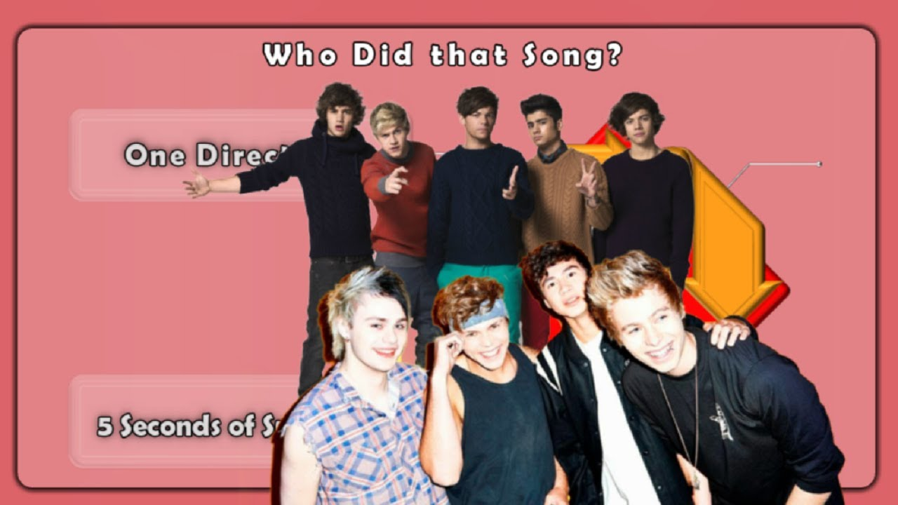 Who Did that Song? ( One Direction OR 5 Seconds of Summer )
