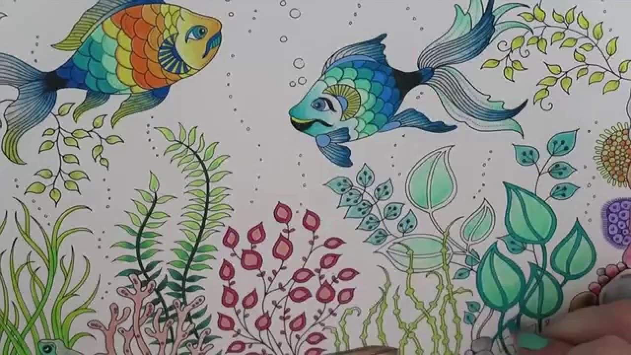 secret garden coloring book fish youtube - My Secret Garden Coloring Book