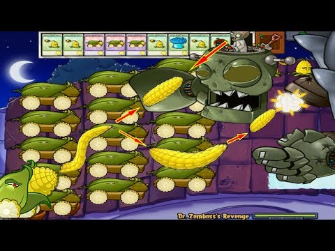 Plants vs Zombies Hack 100% 712 Cob Cannon vs Dr. Zomboss