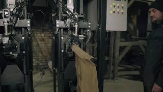 Роторный весовой дозатор в клапанные мешки ДФСМ-РП