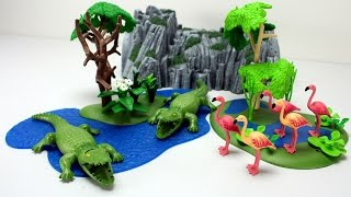 Playmobil Wild Animals Crocodiles and Flamingos Playset Fun Toys For Kids