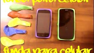 funda para celular- celular - mobile - tutorial - manualidad- creativo - movil -  globo -yozlack