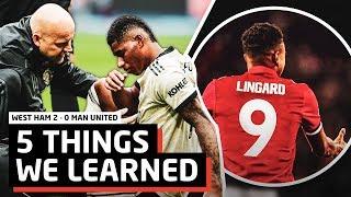 5 Things Man United Learned vs West Ham   WHU 2-0 MUFC