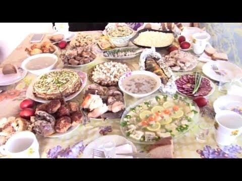 Празднуем Пасху!  Наш Пасхальный, праздничный стол!