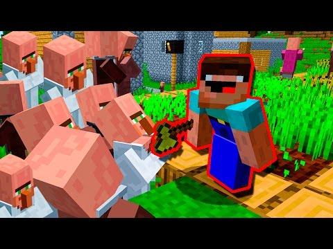 НУБ ЗАТРОЛЛИЛ 1000 ЖИТЕЛЕЙ МАЙНКРАФТ! НУБ ВЗОРВАЛ ДЕРЕВНЮ В MINECRAFT Мультик - Видео из Майнкрафт (Minecraft)