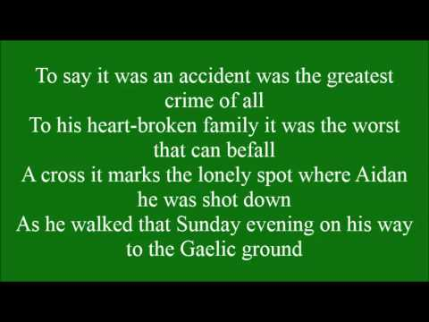 Aidan McAnespie with lyrics