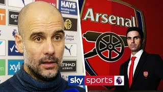 Pep Guardiola reacts to Mikel Arteta's appointment as Arsenal manager & discusses Leicester win