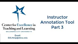 Instructor Annotation Part 3: Comments and Text Tool
