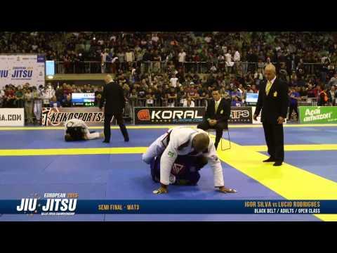 European Open 2015 Black Belt Male Open Class SEMI FINALS: Igor Silva vs. Lucio Rodrigues