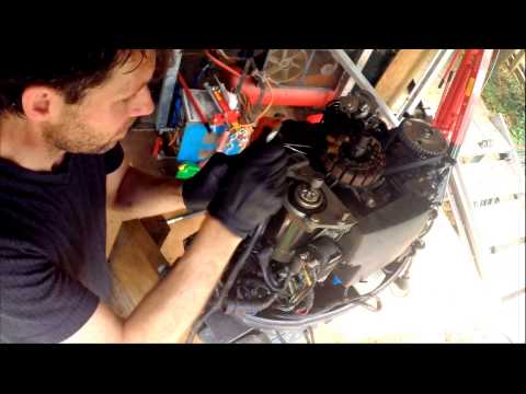 Removing the powerhead from a Yamaha 50HP four stroke outboard motor