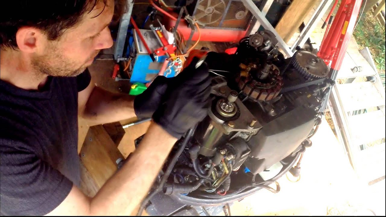Removing The Powerhead From A Yamaha 50hp Four Stroke Outboard Motor 30 Hp Wiring