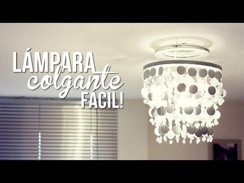 Haz una l mpara f cil youtube - Lamparas de techo hechas en casa ...