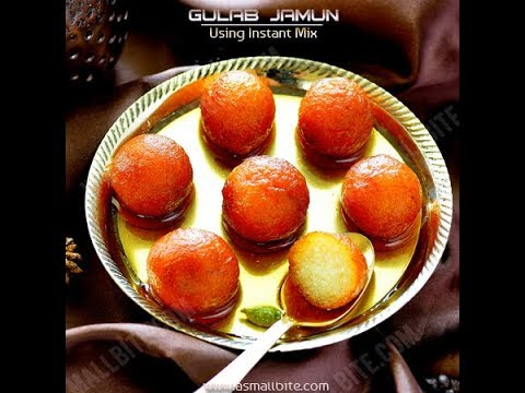 Easy gulab jamun recipe | How to make instant gulab jamun with ready mix