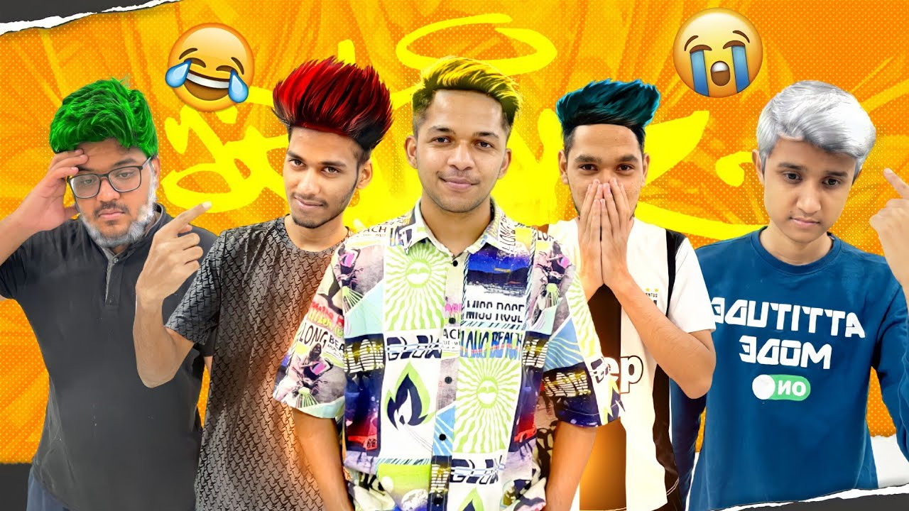 Hair Colour Challenge With My Friends 😂😂😂