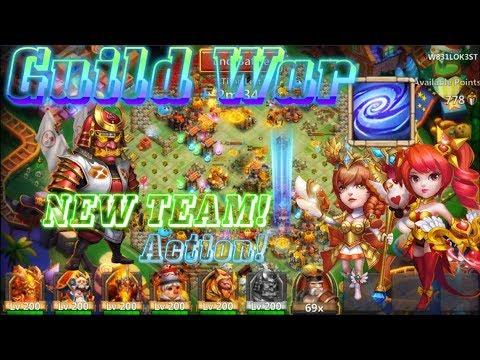 NEW TEAM:RONIN VS EMPOWER DOVE KEEPER & ATHENE Guild War - Castle Clash