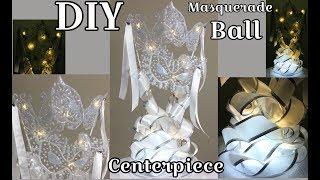 Dollar Tree DIY Masquerade Ball LED Mask Centerpiece 2019
