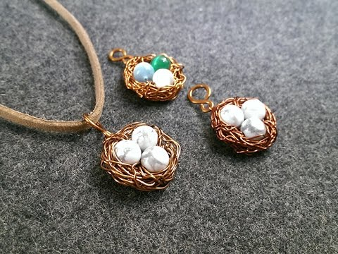 Birds nest pendant how to make wire jewelry 128 youtube birds nest pendant how to make wire jewelry 128 aloadofball Choice Image