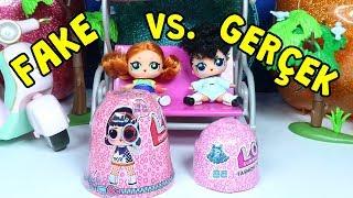 Fake LOL Fashion Crush vs Gerçek! İçinden Bebek Çıktı! Zep'in Oyuncakları