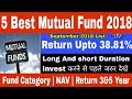 Top 5 best mutual fund to invest in 2018 | best Long and short duration mutual fund in 2018