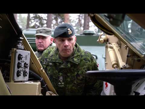 Commander Of Canadian Army In The International Training Center Of The NGU
