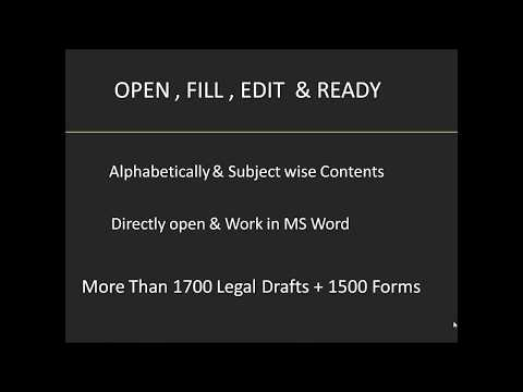 Legal Drafts & Forms Software