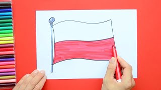 How to draw and color the Flag of Poland