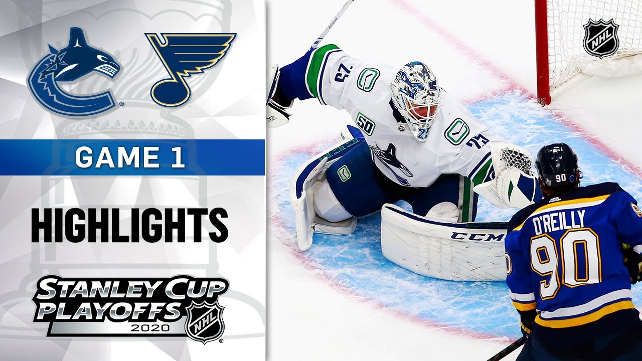 NHL Highlights | First Round, Gm1 Canucks @ Blues - Aug. 12, 2020