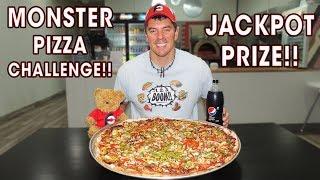 """24"""" MONSTER BBQ CHICKEN PIZZA CHALLENGE!!"""
